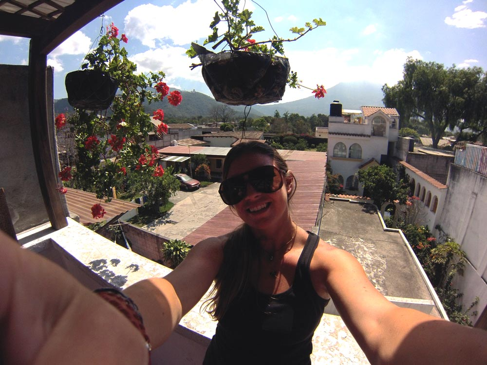 Solo Female Traveler Emily Strickland at a Spanish school in Antigua, Guatemala