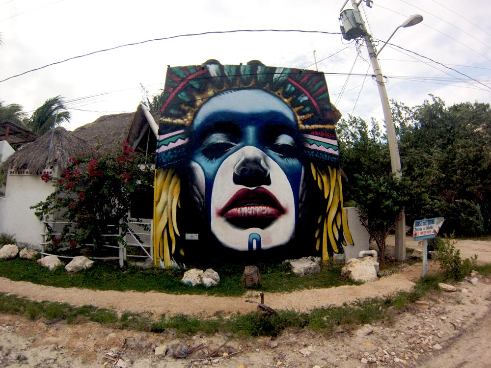 Graffiti on Isla Holbox in Mexico by Solo Female Traveler Emily Strickland