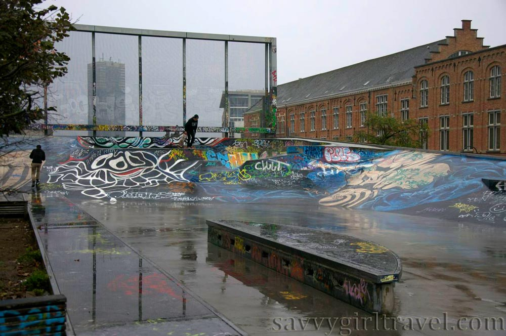 Brussels Belgium Skatepark des Ursulines Solo Female Traveler Travel Writing Workshops