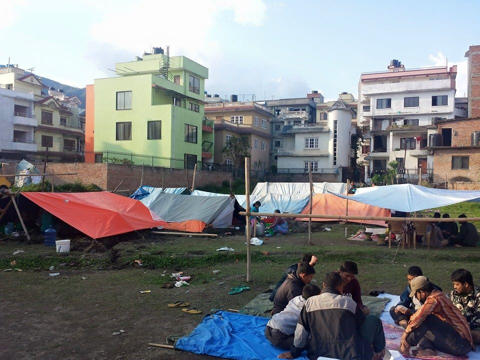 Kathmandu Nepal Camp after Earthquake 2015 Travel Writing Workshops