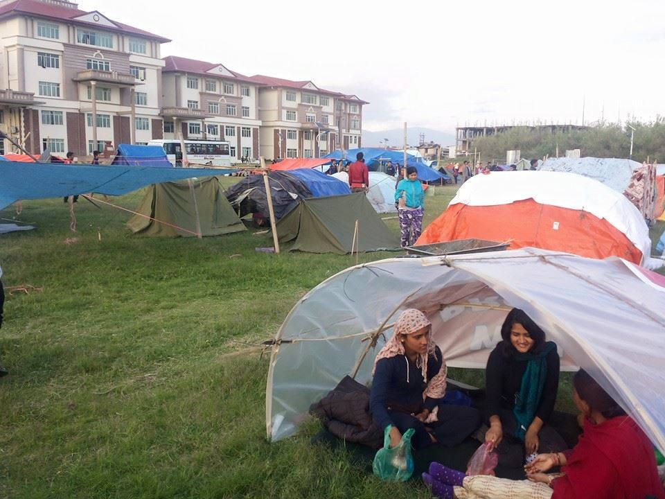 Kathmandu camp displaced people Nepal after Earthquake Travel Writing Workshops