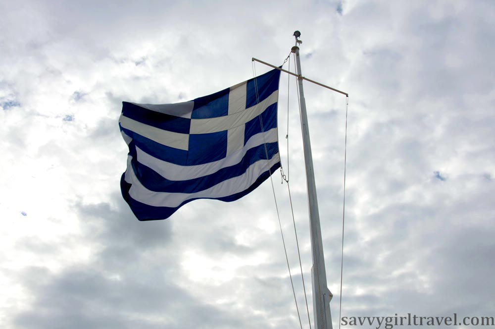 Greek Flag Hayley Swinson Travel Writer Classes Workshops
