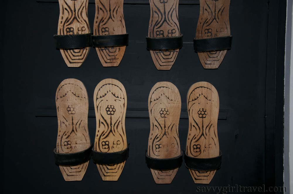 Hammam Traditional Shoes in Athens, Greece Turkish Bath Travel Writing Classes